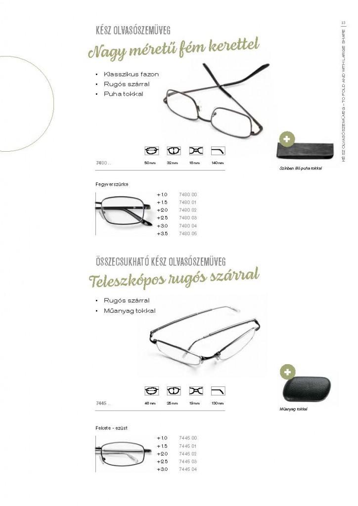 Kész olvasószemüvegek